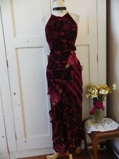 SUBLIME RAISS SILK DEVORE NWT $500 BEADED & APPLIQUE MAXI DESIGNER GATSBY DRESS