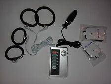 ELECTRO TENS E-STIM SET WITH CONTROL UNIT,4 X CONDUCTIVE RINGS AND BI POLAR PLUG