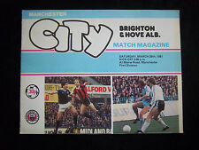 Orig.PRG   England 1.Division 80/81  MANCHESTER CITY FC - BRIGHTON & HOVE ALBION