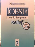 Jobst Relief Thigh High With Silicone Dot Band 20-30mmHg Closed Toe, M, Beige