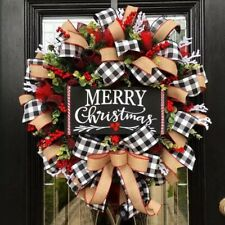 Christmas Buffalo Check Wreath -- LIMITED OFFER --