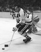 Willie O'Ree - Boston Bruins, 8x10 B&W Action Photo