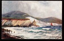 Tuck Tennyson Country signed Richardson Stag Rock landscape I.O.W.Uk postcard