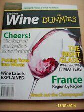 EXPLORING WINE FOR DUMMIES Perfect Food & Wine Pairings New Bookazine / Magazine