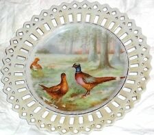 Vintage Collectible Plate Pair of Pheasants