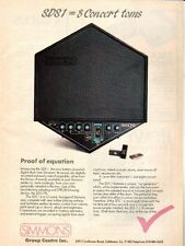 SIMMONS SDS 1 ELECTRONIC DRUMS PINUP AD vtg 80s Digital Sample Trigger