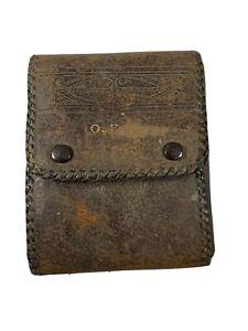 Utica Cutlery Co. 9 piece interchangeable Pocket Knife System Leather Case