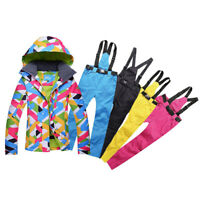 Women's Winter Ski Suit Pants Jacket Set Waterproof Snowboard Snowsuits Outdo YA
