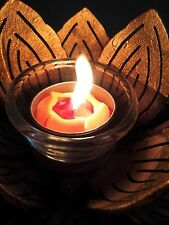 CANDLE HOLDER COCONUT SHELL SPA AROMA LOTUS THAI HANDCRAFT FREE SHIPPING