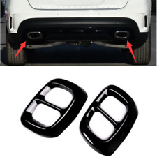 Stainless Stlee Dual Exhaust End Pipe Muffler Tip Cover For Benz GLA 2017 2018