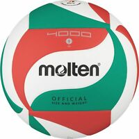Molten Volleyball DVV Synthetik Leder Wettspielball Weiß/Grün/Rot V5M4000 Gr. 5