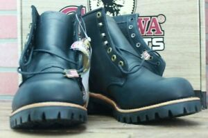 "Chippewa 20028 Black Odessa 6"" Tall Leather Boot Size 11EE"