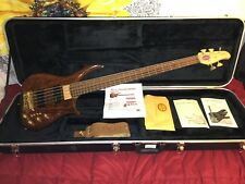 US Masters EP53 5 String Electric Bass Guitar Retailed $2790 Walnut NICE w/ Case