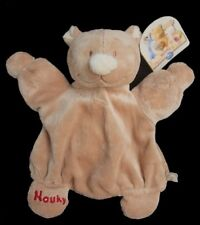 Doudou Ours Nouky NOUKIE'S Marionnette Beige NEUF