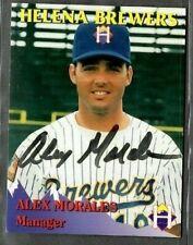 Rocky Mountain Motors #18 Alex Morales Helena Brewers signed autograph (E47)