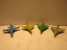 4 Different Metal Jets Planes Aircrafts Toy