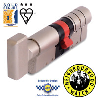 ERA Fortress TS007 3 Star Euro Thumb Turn Cylinder - Anti Snap Lock