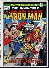 Iron Man 66 COVER PROOF ART Thor vs IronMan Gil Kane 1973 Marvel Comics Avengers