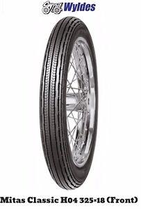 Mitas 325 X 18 H04 Classic Rib Tyre. BSA, Triumph, Ariel, Matchless, AJS, Norton