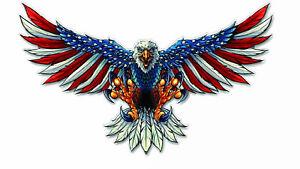 AMERICAN FLAG BALD EAGLE USA MADE DECAL STICKER CAR TRUCK VEHICLE WINDOW WALL