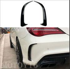 Black Rear Bumper Side Vent Flicks Canards for Mercedes-Benz W117 CLA250 CLA45