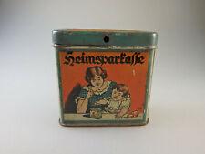 "Spardose Raiffeisen-Kasse ""Heimsparkasse"" Blech um/ab 1925 (59785)"
