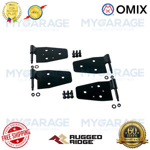 Omix-ADA For 87-06 Jeep Wrangler TJ Rugged Ridge Black Door Hinge Kit - 11202.01