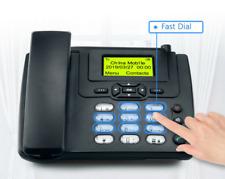 GSM SIM Card Desktop Wireless Phone Home Landline Telephone Wall Mount With FM