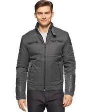Calvin Klein NEW True Grey Mens Size XXL  Full Zip Motorcycle Jacket $198