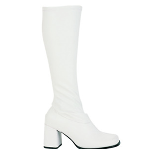 Ellie Shoes Womens Gogo Knee High Fashion Boots, White Matte, Size 5.0