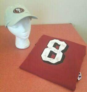 San Francisco 49ers NFL Logo 7 Vintage Red Steve Young #8 Large Jersey & Cap