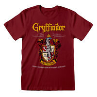 Official Harry Potter Gryffindor Crest T Shirt Team Quidditch Hogwarts Wizard