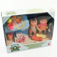 ~ Rare ~ Vintage ~ Cabbage Patch Kids ~ Beachtime Twins Playset ~ Mattel 1997 ~