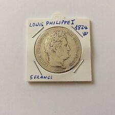 5 F Louis Philippe 1er en argent 1834 W