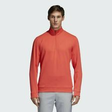 Men's adidas Adipure 1/2 Zip Pullover Layering Top XL Coral $100