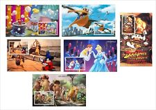 DISNEY NEMO CINDERELLA ICE AGE DONALD DUMBO MICKEY MOUSE6 S/SHEETS UNPERFORATED
