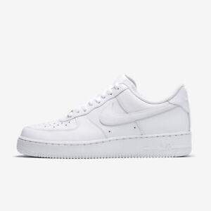 Nike AIR FORCE 1 '07 Weiß Sneaker Herren Sportschuhe Leder Turnschuhe 315122 111