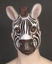 ZEBRA MASK - Child or Adult plastic jungle safari animal mask