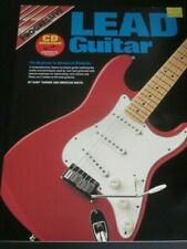 Progressive Lead Guitar instruction book with compact disc-new'old stock'