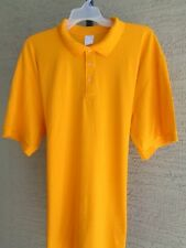 Unbranded Cotton Blend  50/50 Jersey Knit S/S Polo Shirt 4X Gold