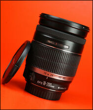Canon EF-S 18-200mm IS F3.5-5.6 Image Stabilizer Zoom Lens + Front & Rear Caps