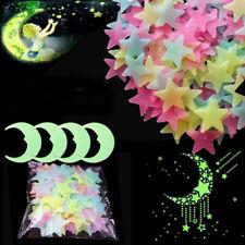 Kids Bedroom Home Decor Wall Sticker Sun/Moon/Star/Butterfly Glow In The Dark