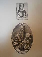 Planche gravure Moyen age Portrait de Labbé et du luthier Duiffoprugear Bouzey