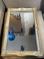 """Light Gold Tone Framed Wall Mirror - 16.5"""" W x 24.5"""" L x 1.5"""" D"""