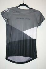 Endura Women's Black White Bicycle Bike Cycling Jersey Fitness Shirt XS EUC