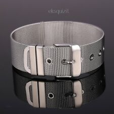 BELT BRACELET - UNISEX SILVER MESH BANGLE WITH GIFTBOX