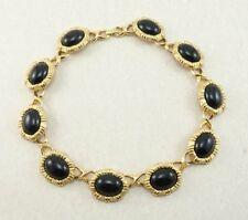 Vintage Couture MONET Black Rhinestone Collar Runway Statement Necklace