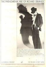 23/5/1981Pg29 Album Advert 15x10 Richard Strange, The Phenomenal Rise Of