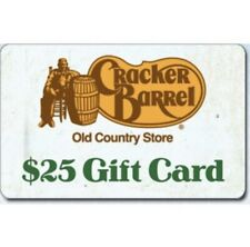$50 Cracker Barrel Gift Card! 40% OFF! Fast Physical/Mailed Delivery. 2x25$