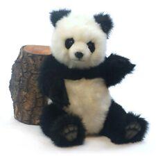 38cm Hansa Panda Bear Jointed Handmade Plush Cuddly Realistic Stuffed Animal Toy